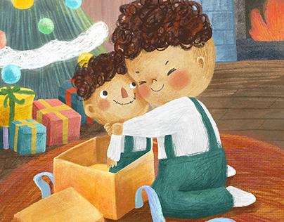 Christmas Present | Children's illustration