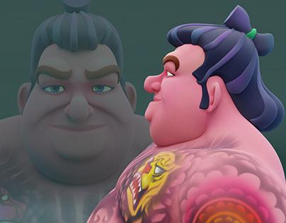Cool Sumo 3D #Character Art
