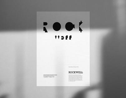 Typographic Poster: Rockwell