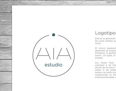 Logotipo para AIA estudio.