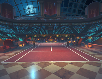 Tennis Clash Halloween arena