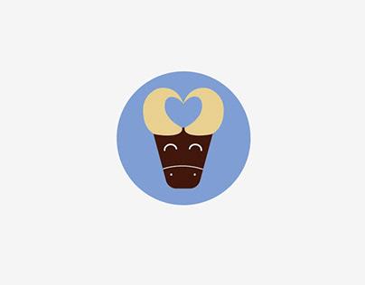 Buffalo ice-cream illustration
