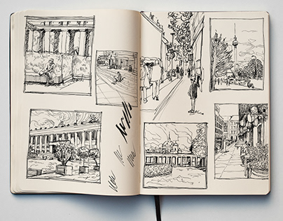P E N C I L & I N K / Berlin Mitte Sketchbook
