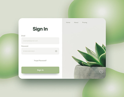 Daily UI #01 Sign In Page