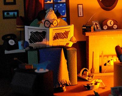 Home sweet home / Hogar, dulce hogar - 3D paper scene