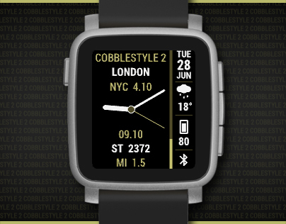 CobbleStyle 2 watchface for Pebble smartwatches