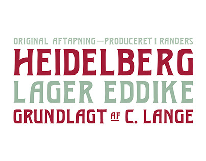 Heidelberg Typeface & Packaging Design
