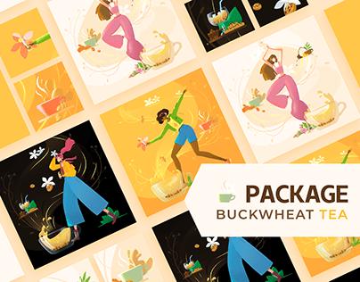 Package Design - Buckwheat Tea
