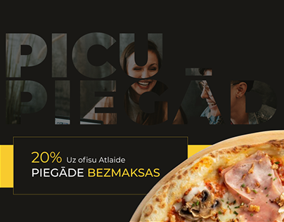 Instagram and Facebook banners. Pizza delivery