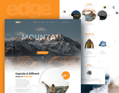 Edge Travel website design concept