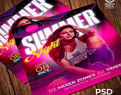 Flyers party DIsco pub Photoshop