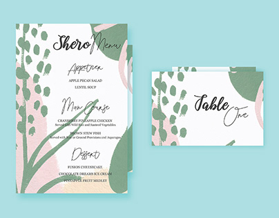 Mother's Day Shero Menu & Table Card Design