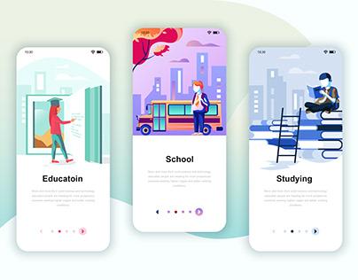 Stories Onboarding Screens Mobile App