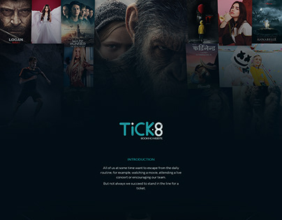 Tick-8 website - Booking system