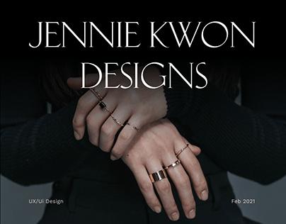 Jennie Kwon Designs — website redesign concept