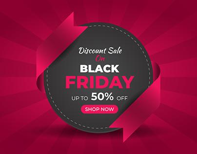 Black Friday Fashion Sale Banner Flyer Facebook Cover