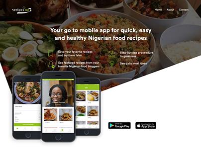 RecipesNG - A Mobile App for Nigerian Food Recipes
