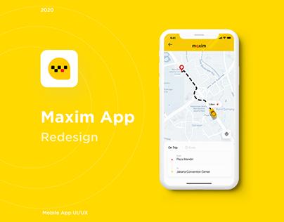 Maxim App - Redesign