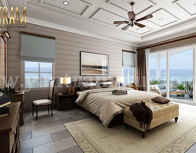 Master Bedroom with Species Balcony 3d interior renderi