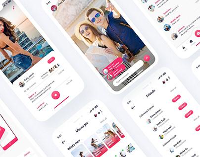 Bulk Social Dating Messaging App UI Kits