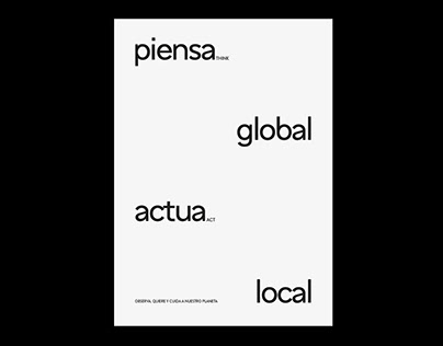 Piensa Global | Poster