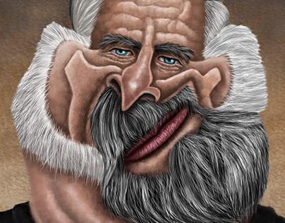 Philip K Dick caricature