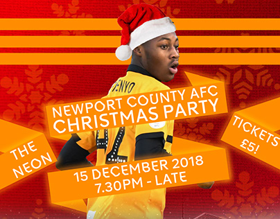 Newport County AFC Programme Christmas Cover