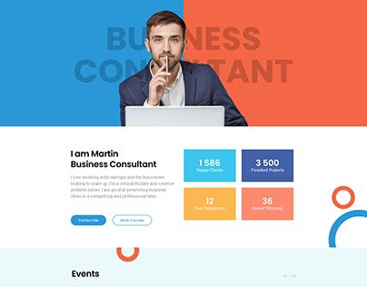 Business Consultant Website Design