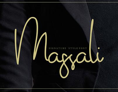 Massali Signature Style Font