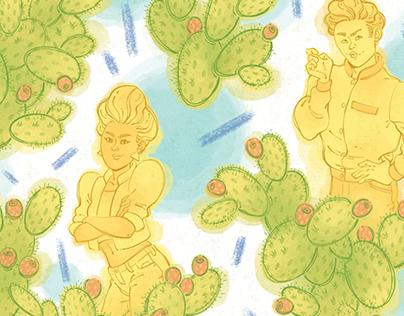 Prickly People Pattern Series