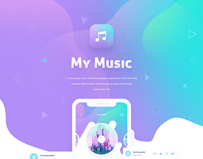iOS Musical Player - Mobile UI Sketches