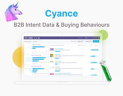Cyance UX/UI Product Design, B2B & B2C, AI