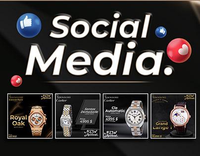 PrimeWatches Social Media Designs