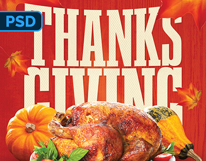 Thanksgiving Flyer - PSD Template