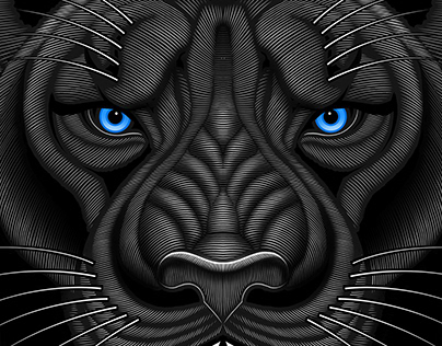 "Mat Beast ""Black Panther"" Rash Guard Illustration"