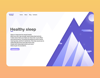 """Web page about """"Healthy sleep"""""""