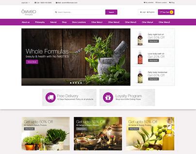 Omved Web UI Design