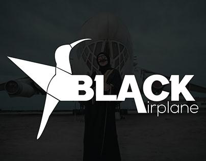 Black Airplane Logo concept   Logo design