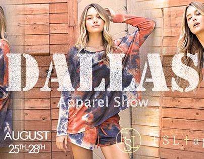 Fashion banner design for dallas apparel show 2020