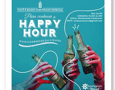 Convite Happy Hour Restaurante Catamaran.