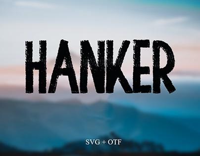 Hanker - Free Hand Drawn Brush Font