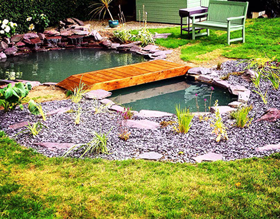 Koi pond building