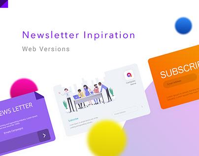 Newsletter Inspirations for Websites