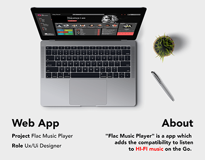 Flac Music Player - Web App