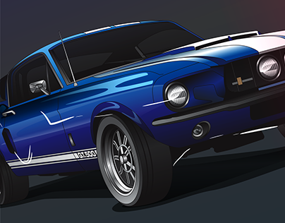 Blue GT-500