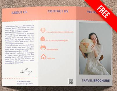 Trifold Travel Brochure - free Google Docs Template