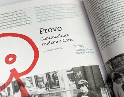 """""""Provo. Controcultura studiata a Corte"""", in PG 28"""