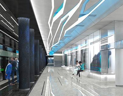 NOVOKRESTOVSKAYA metrostation '17