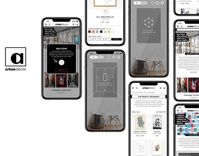 Artsee Decor // e-commerce web app