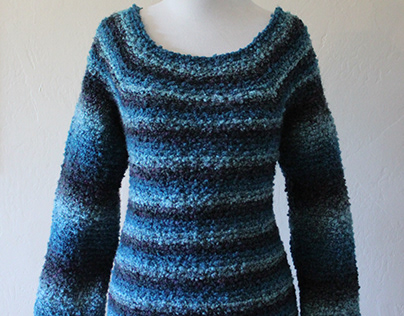 Striped crocheted clothing